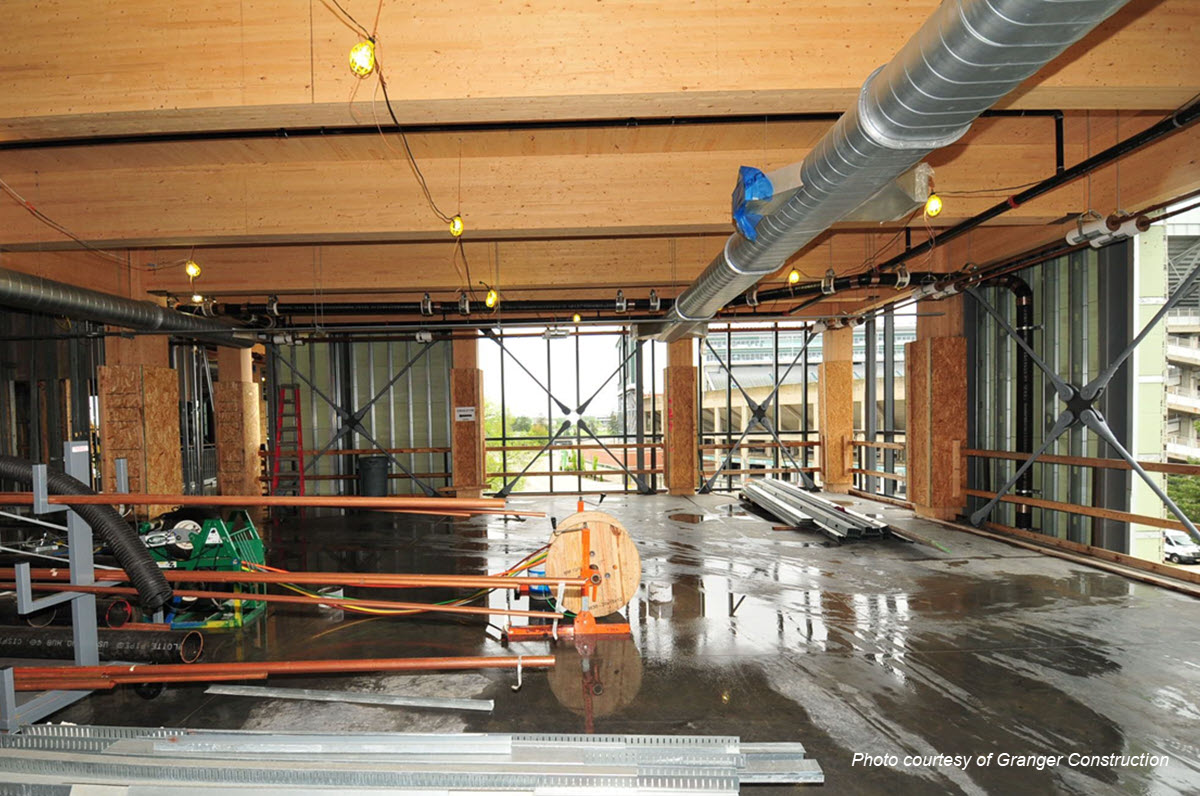 Photo of interior of new portion of STEM facility