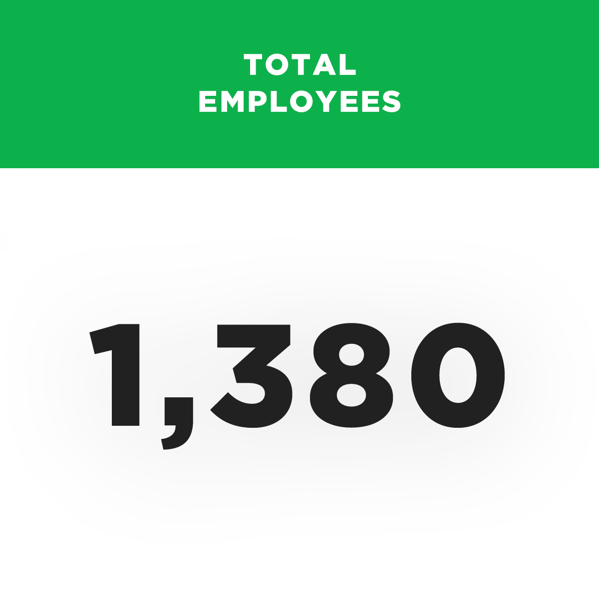 Total Employees - 1,380