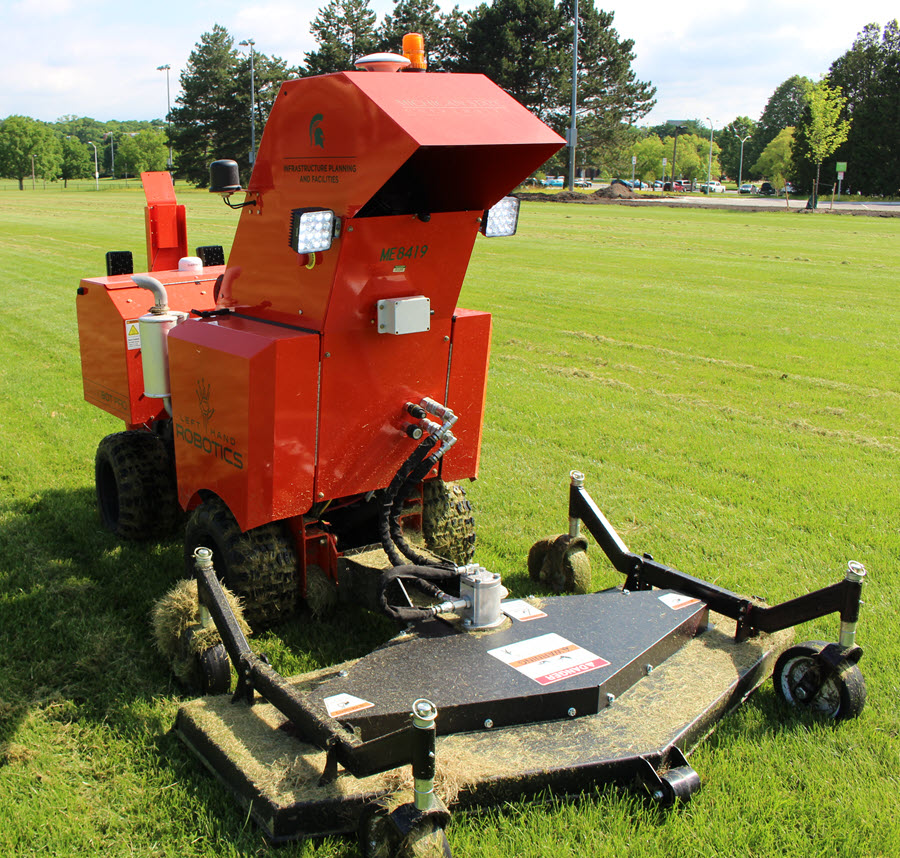 Mowbot autonomous mower in action at Vet Med Field
