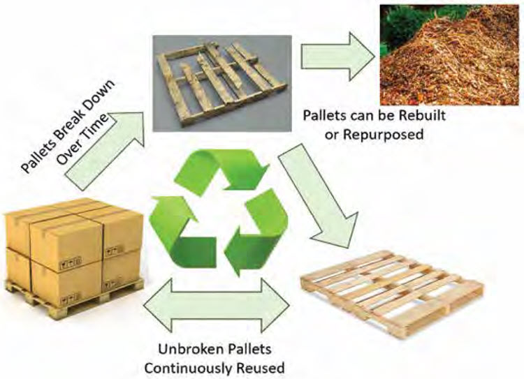 graphic showing the lifecycle of a pallet