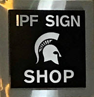 Photo of IPF Sign Shop room sign