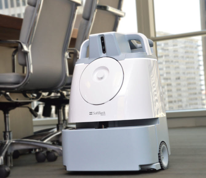 photo of the WHIZ robotic vacuum in action