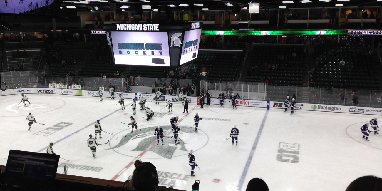 photo of hockey game in progress at munn ice arena